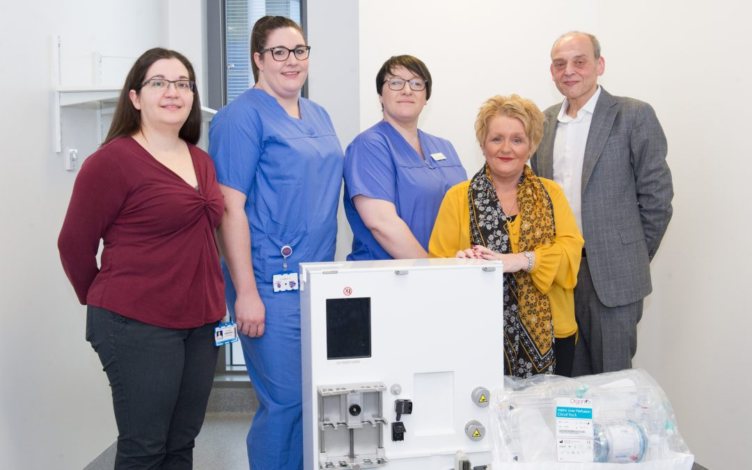 Leeds Cares funded liver machine gives Gail new lease of life