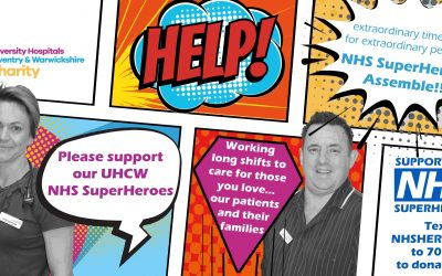 UHCW charity's marvel-lous superhero appeal for NHS workers